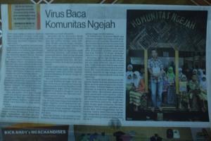 Opik, penggiat literasi Komunitas Ngejah di Media Indonesia