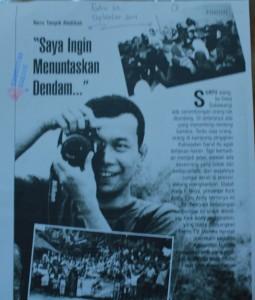 Opik Ketua Komunitas Ngejah pada rubrik tokoh Majalah Kandaga
