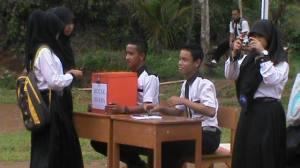 Proses Pemilihan Ketua OSIS SMK Nashirul Huda Periode 2014/2015