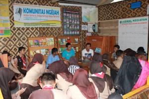 Diskusi perencanaan PRABUHI DKR Bojonggambir bekerjasama dengan Komunitas Ngejah