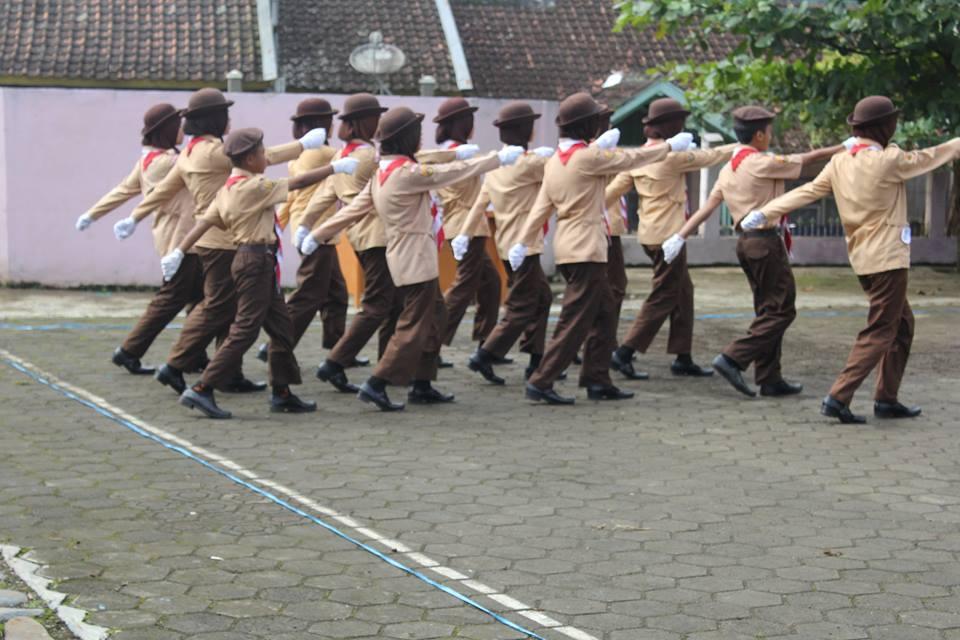 DKR Gerakan Pramuka Kec  Singajaya Menggelar Lomba LKBB